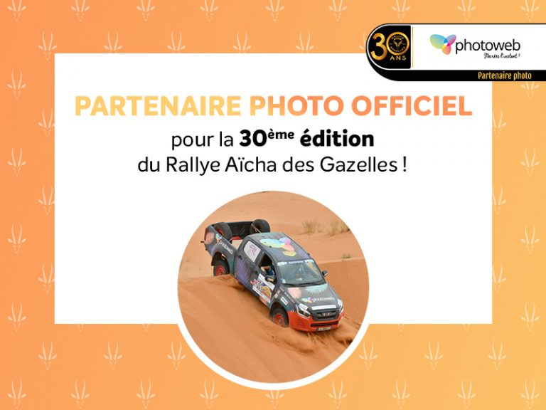 Rallye Aicha des Gazelles partenaire photo officiel